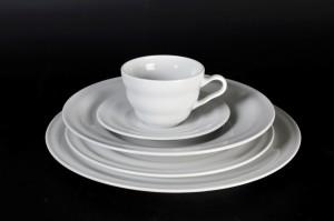 1305 plate 28,5; 23,5; deep plate, tea cup and saucer